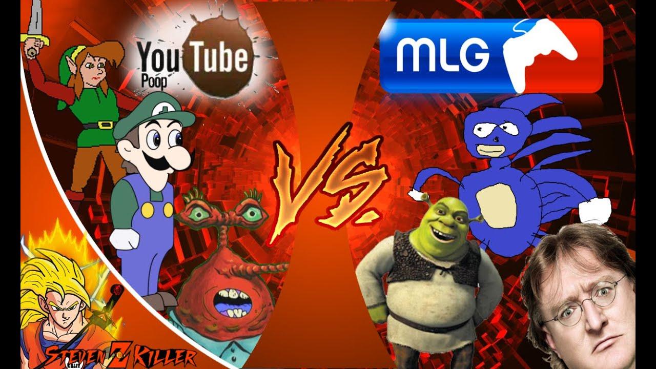 mlg vs youtube poop  total war  cartoon fight club reaction