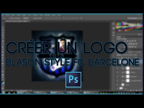 Tutoriel | Créer Un Logo Blason/Ecusson Style FC Barcelone Avec Photoshop.