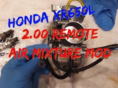 Honda XR650, $2.00 remote Air/Mixture screw Mod!!
