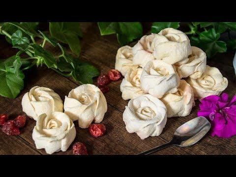 Абрикосовый зефир Розы из зефира