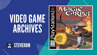 Magic Carpet 1996 Playstation (PS1) Intro & First Level Gameplay