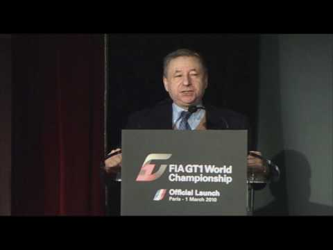 FIA GT1 World Championship launch - Jean Todt | GT World