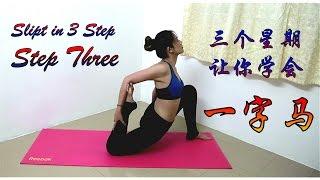 瑜伽 10# 【一字馬】三步曲第三步【三個步驟學會一字馬】輕輕鬆鬆做一字馬|顯腿長的動作之一 | Splits Stretch Flexibility Workout For Beginners