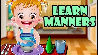 Baby Hazel Learns Manners | Fun Game Videos By Baby Hazel Games