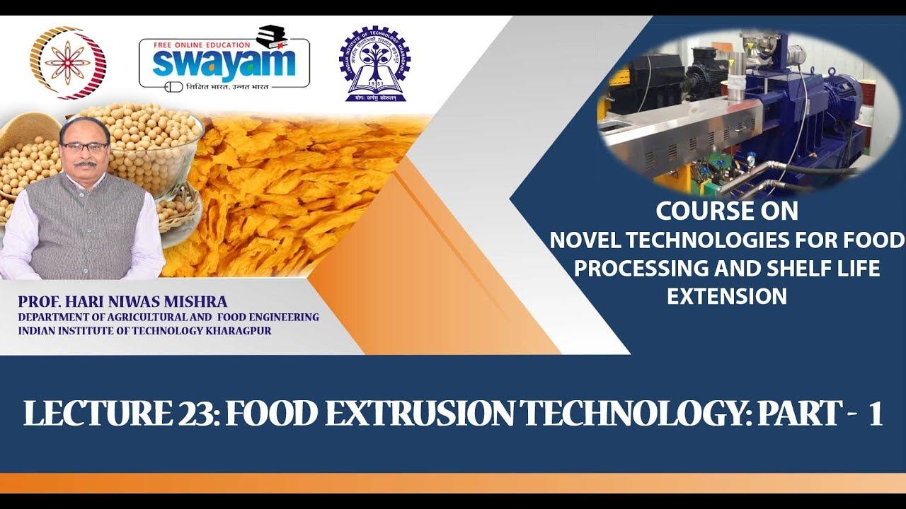 NPTEL :: Agriculture - NOC:Novel Technologies for Food