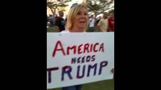 ED shipek live at DONALD Trump rally 561-693-8636