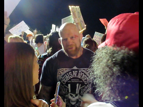 Violent Anti-Trump Protest: Trumper and Jeff Monson street fight on Palm Beach 2/4/17