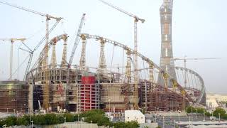 Khalifa Stadium Total Renovation to Host the 2022 FIFA World Cup in Qatar Timelapse by MK-Timelapse