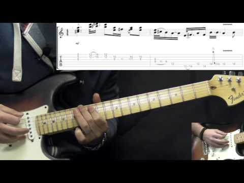 Stevie Ray Vaughan - Life Without You - Rock/Blues Guitar Lesson (w/Tabs)