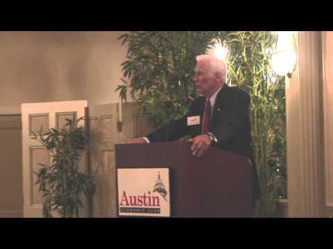 Captain Gene Cernan at Austin Economic Club.
