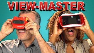 ADULTS REACT TO VIEW-MASTER (VR VS. 3D)(Check out the all-new View-Master® VR at http://goo.gl/xxFel8 View-Master Bonus video on the REACT channel: https://goo.gl/YkXrtm NEW Videos Every Week!, 2015-10-29T19:00:04.000Z)