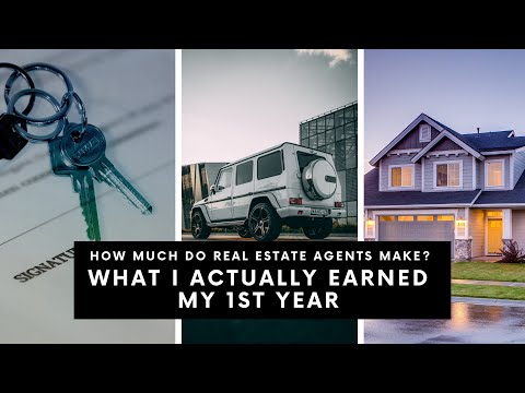 HOW MUCH DO REAL ESTATE AGENTS MAKE? MY ACTUAL PAY FIRST YEAR  AS REALTOR AND MORE