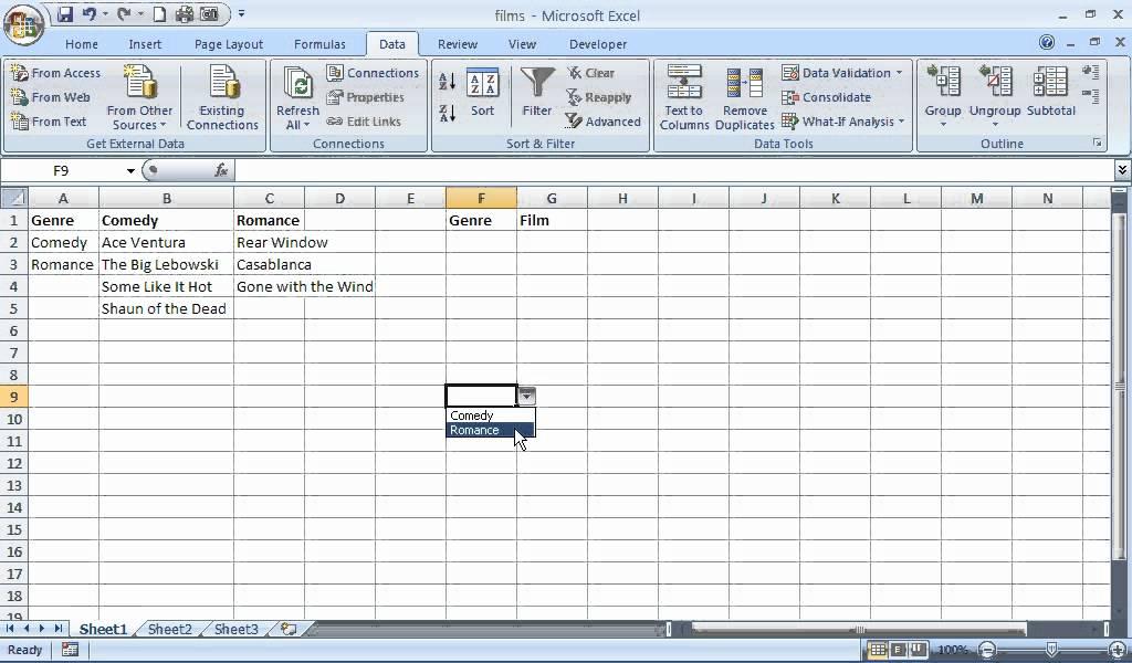 how do you insert a drop down box in word