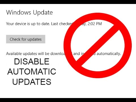 how to stop automatic updates windows