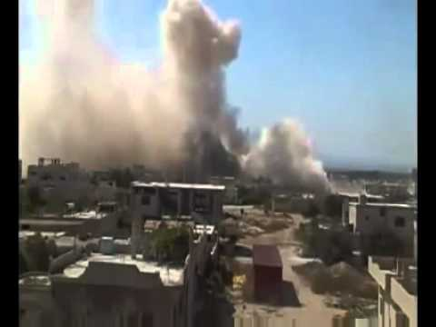 """Free"" ""Syrian"" ""Army"" Terrorist Savages Blow Up a Hospital fileld with people in Homs/Syria."