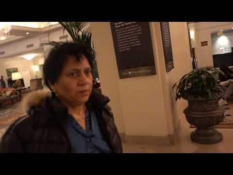 Aruna & Hari Sharma at Omni Shoreham Washington DC Lobby after Shopping, Nov 16, 2017