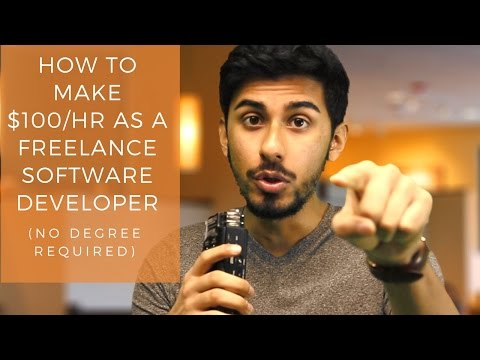 How to Make $100/hr as a Freelance Software Developer (No Degree Required)