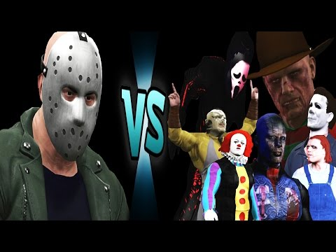 Jason Voorhees vs Chucky, Freddy, Leatherface, Ghostface, Pinhead, Penny-wise & Michael Myers