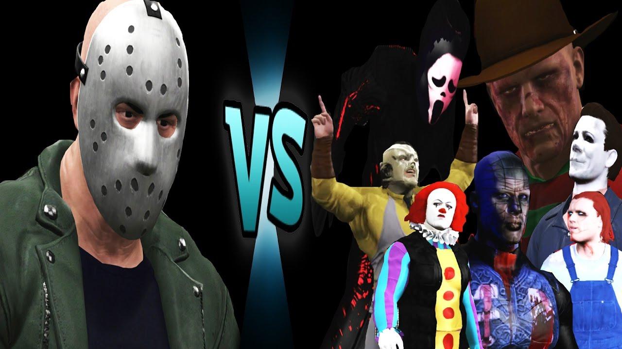 Freddy Vs Jason Vs Chucky Vs Michael Myers Vs Pinhead Jason Voorhees vs Chuc...