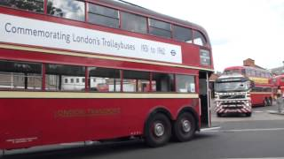 London Trolley Buses leaving Fulwell depot