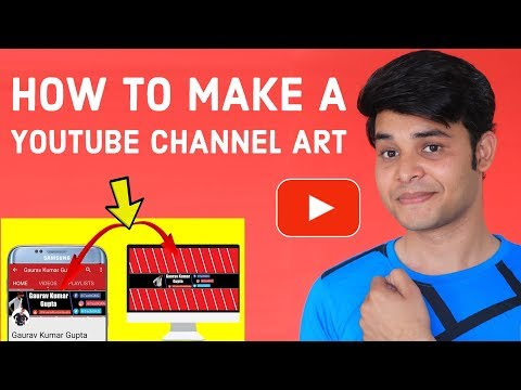 How To Make A Youtube Channel Art For Free ! Simple & Easy Way  {HINDI}