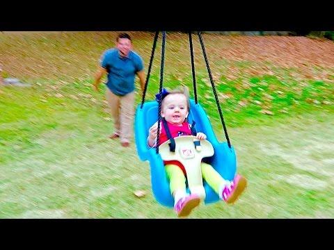 GIANT BABY-FLYING SWING!