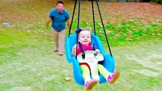 One of Cullen & Katie's most viewed videos: GIANT BABY-FLYING SWING!