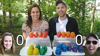 Question Challenge DCTC Amy Jo and Brandon Question and Answer Game with Play Doh Eggs
