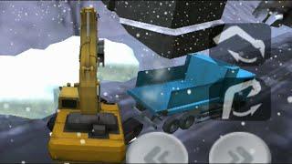 Digger Snow Op: Excavator (Digger), Dump Truck & Bulldozer (Snow Plow)