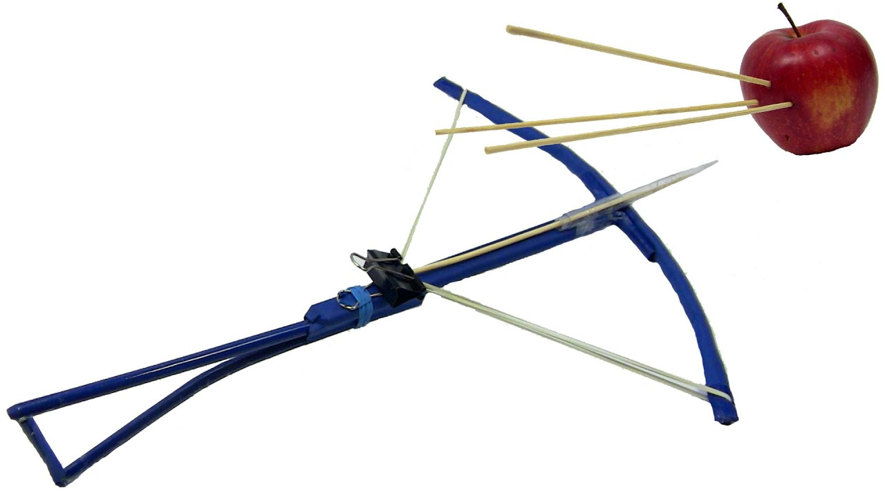 how to make a crossbow made of paper and bamboo sticks