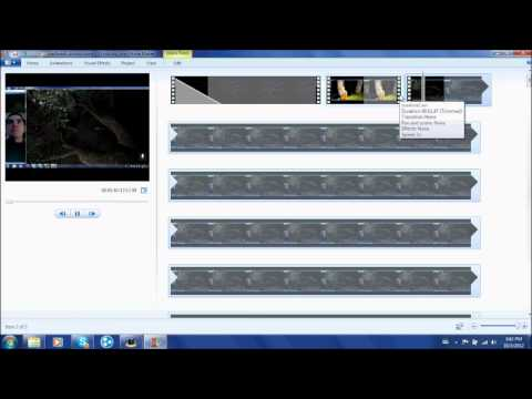 How To Use Windows Live Movie Maker - Tutorial - YouTube