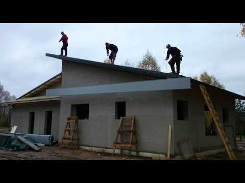 How to lift Ruukki Classic 11 meters onto the roof