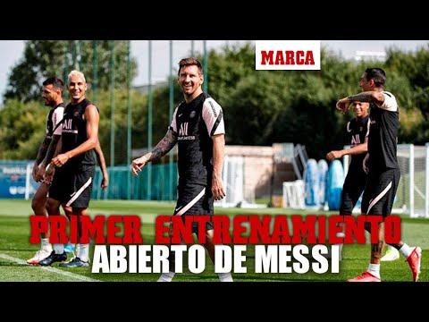 Primer entrenamiento a puerta abierta de Messi en el PSG I MARCA