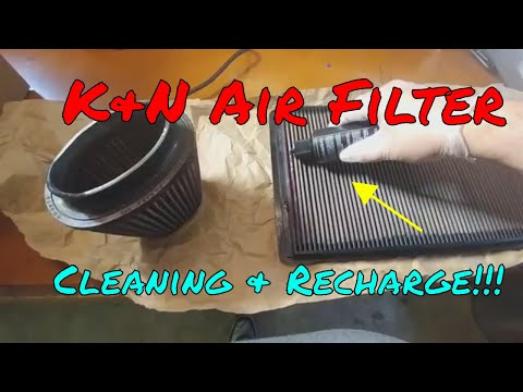 How To K&N Air Filter Cleaning and Recharge B&S Customs Oiling Hog