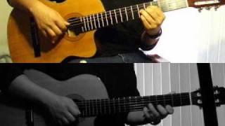 2pac Thugz Mansion Acoustic Guitar Split Screen Duet (Excerpt)