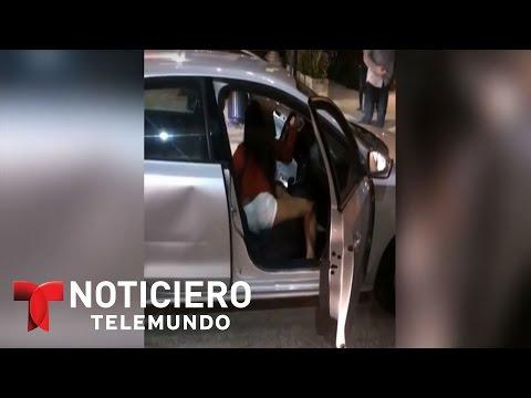 Mujer ataca a chofer de empresa de transportes Uber | Noticiero | Noticias Telemundo