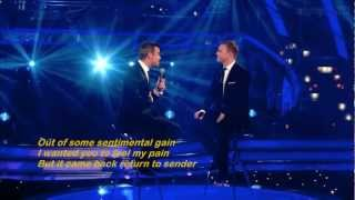 Shame - Robbie Williams and Gary Barlow ( lyrics ) [ live on Strictly Come Dancing ]