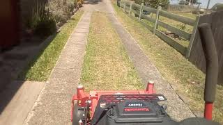 Mowing a long driveway.. Gravely 36