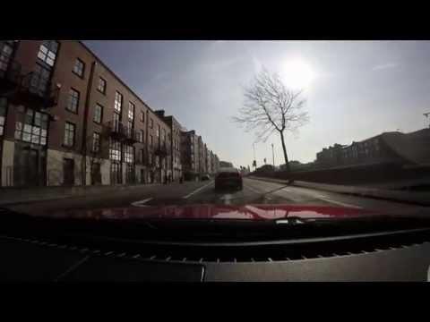 A full drive through Dublin city centre in a Mazda MX5