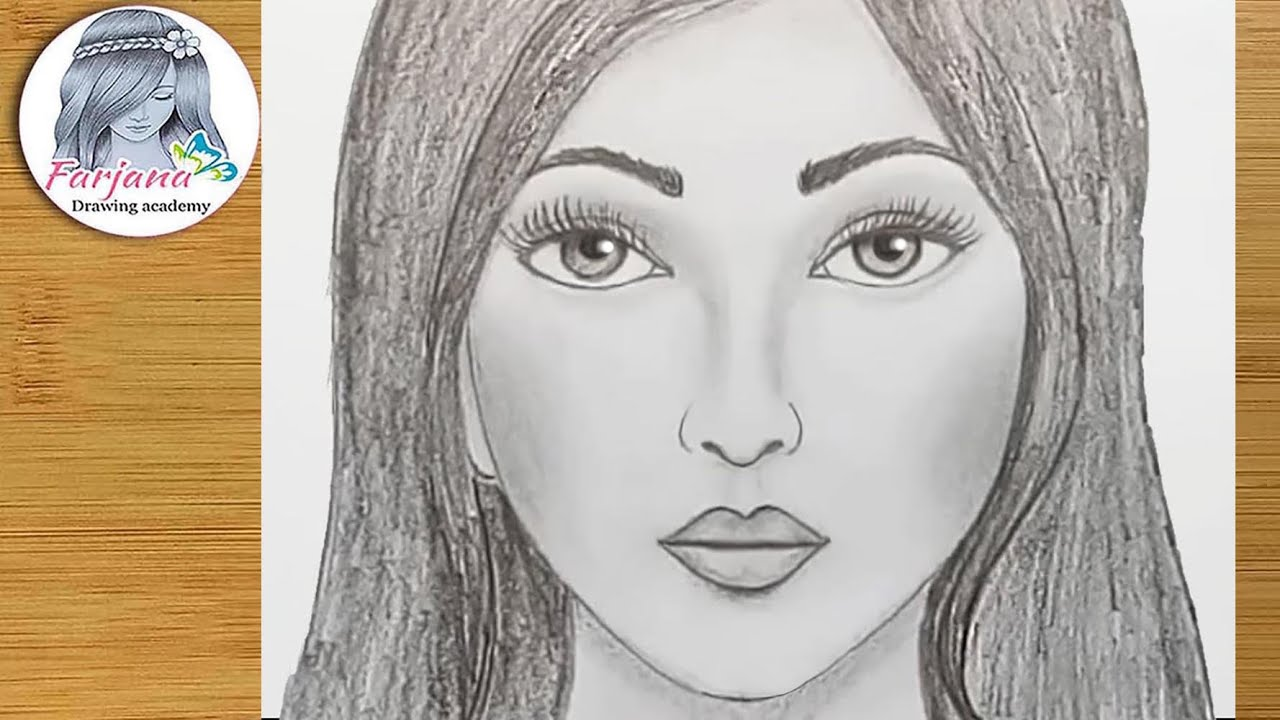 how to draw face for beginners easy way to draw a realistic face [ 1280 x 720 Pixel ]