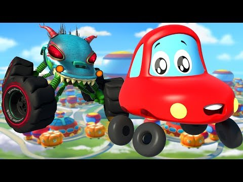 Into The Future | Little Red Car | Kindergarten Nursery Rhymes For Babies by Kids Channel