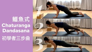 瑜伽初學者如何練習鱷魚式 Chaturanga Dandasana 建立全身力量,鍛錬手臂、核心肌肉、背肌 | How to do Chaturanga Dandasana for beginners