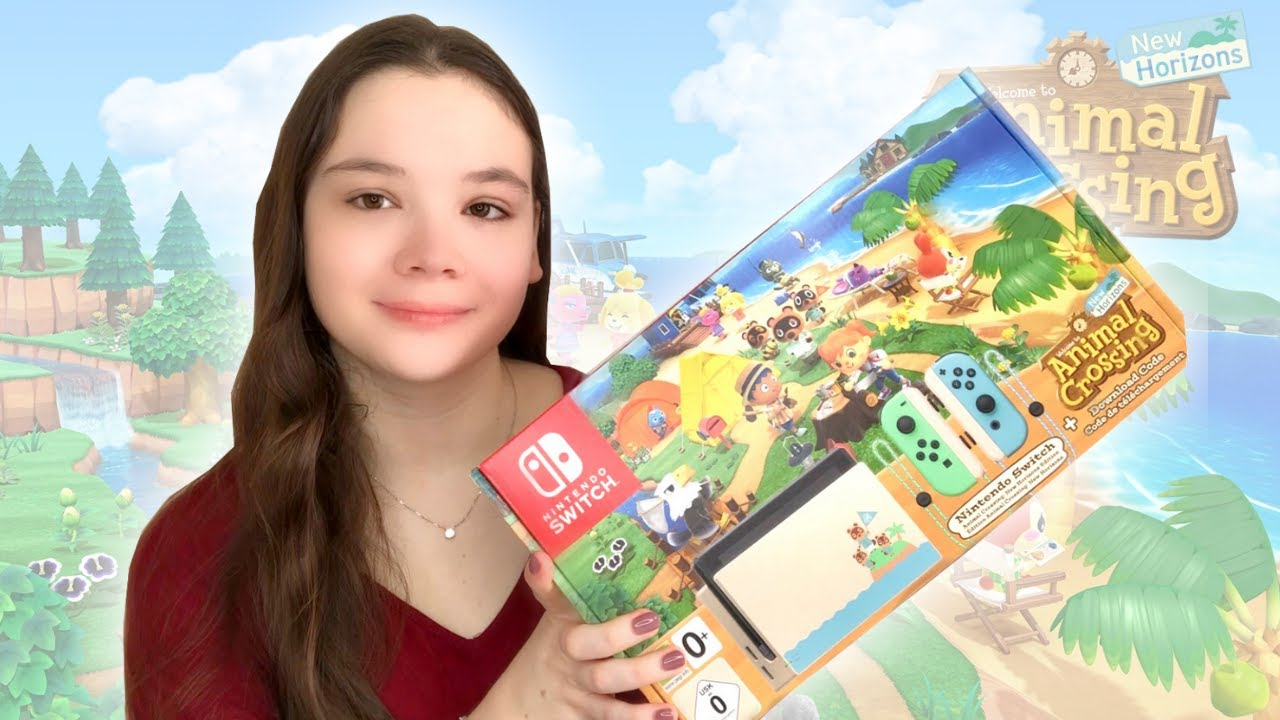 UNBOXING! Nintendo Switch Animal Crossing New Horizons (FR ...