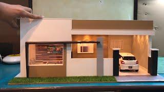DIY Miniature Modern Mini House with Lighting | 1:18 Diorama House | Realistic Model House