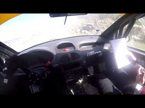 Treino Peugeot 206 Rally na Pedreira Costa