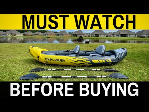 NEWEST Intex Explorer K2 - Review, How To, Set Up - Portable Inflatable Kayak (2 Person)