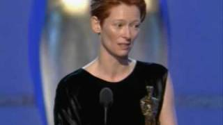 Tilda Swinton winning Best Supporting Actress Oscar®