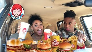 WENDY'S MUKBANG W/ 16 YEAR OLD LITTLE SISTER (SHE HAS A BOYFRIEND?!?!?!)