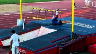 Lázaro Borges. 5,75 m. Récord nacional de Cuba. Zaragoza, 11/08/2011.