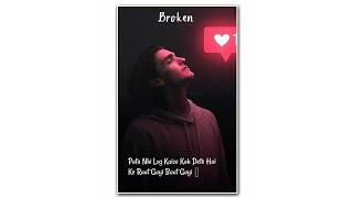 Sad Shayri status I Heart broken status I #shorts #heartouching #sad #Ikstatus07
